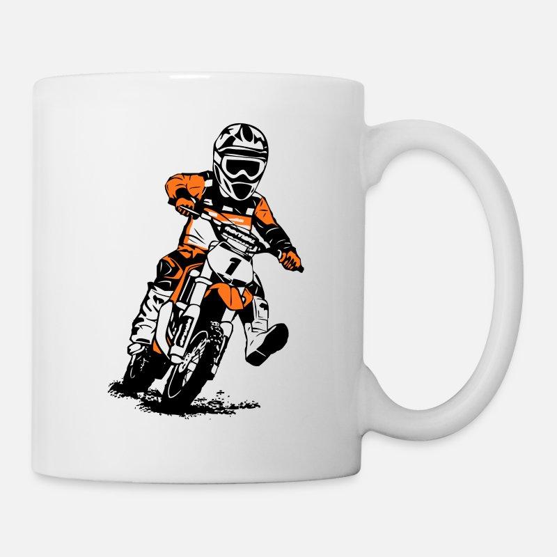 Mug incassable Moto cross personnalisé avec prénom