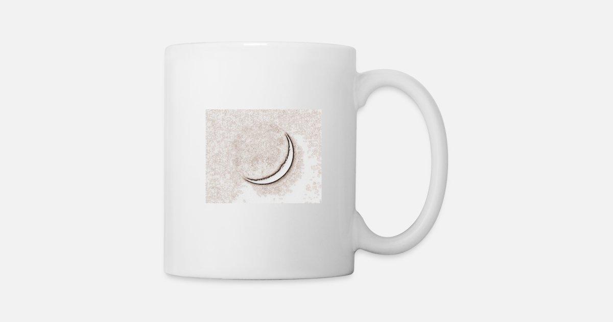Croissant Lune Crayon Lumineux Mug Spreadshirt