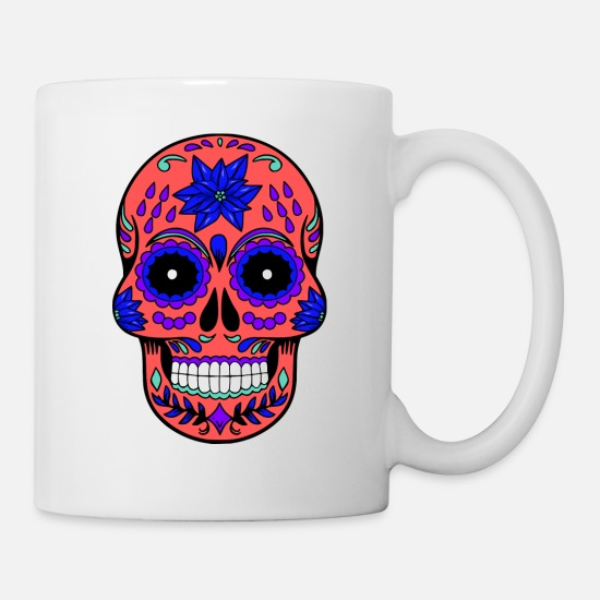 Skeleton Mugs & Drinkware - Sugar skull skull halloween - Mug white