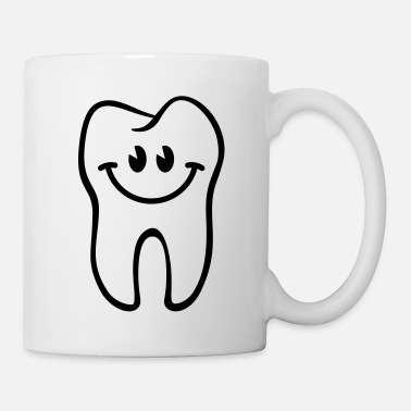 Dentiste Dent- / Zahn- / Tooth- / Diente- / Dente-Smiley - Mug blanc