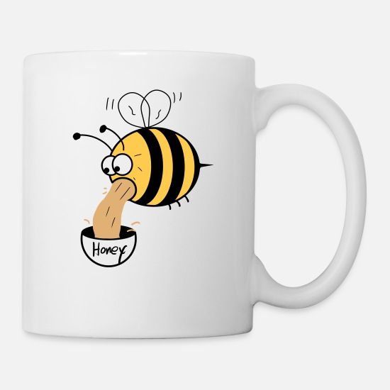 Bee Mugs & Drinkware - making of honey - bee :-) - Mug white