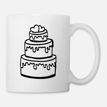 Wedding cake wedding party gift / wedding - Mug