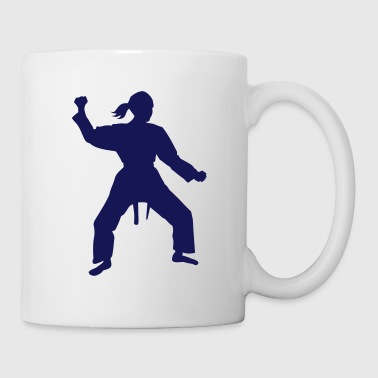 Karaté Karate female - Mug blanc