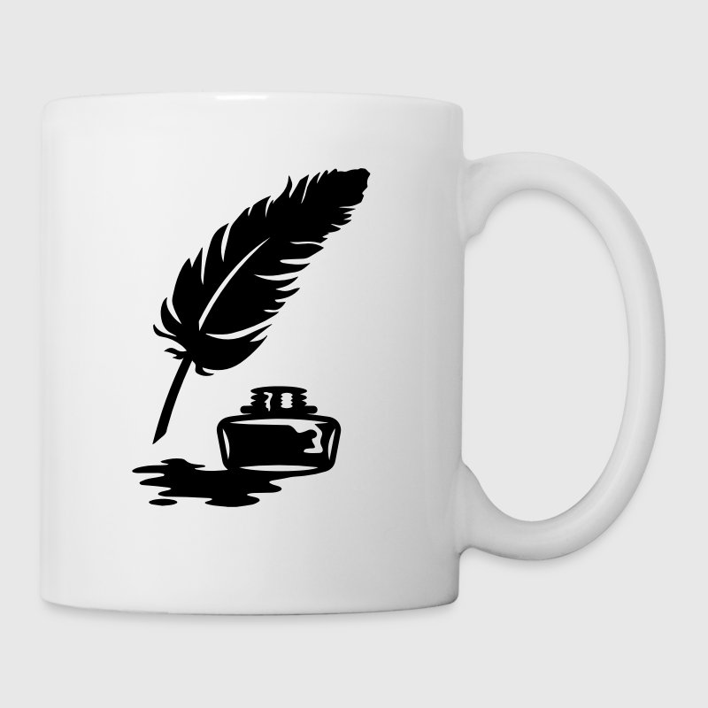 Quill Pen and Ink Pot - Mug