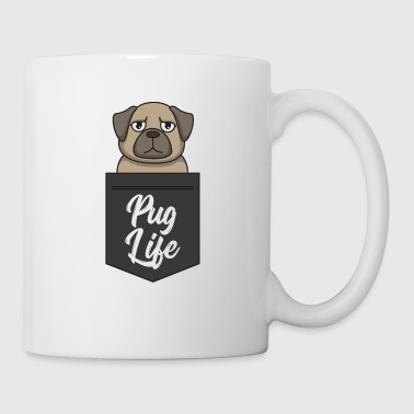 Pug Life - Funny dog in breast pocket Pug Life - Mug