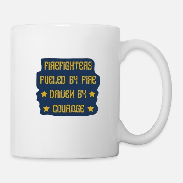 Police Firefighter fuel courage gift - Mug
