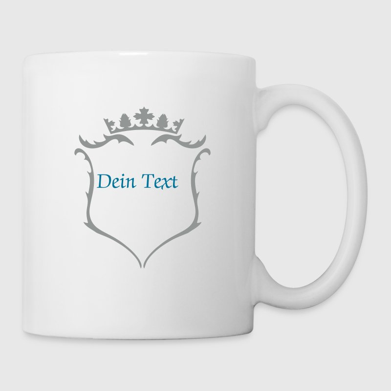 A crest with crown - Mug
