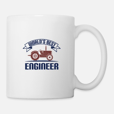 Construction Best Ingenieru - saying tractor - Mug