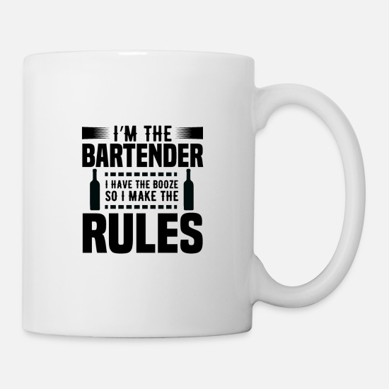 Bar Hop Mugs & Drinkware - Bartender Rules Bartender Pub Bar Alcohol Gift - Mug white