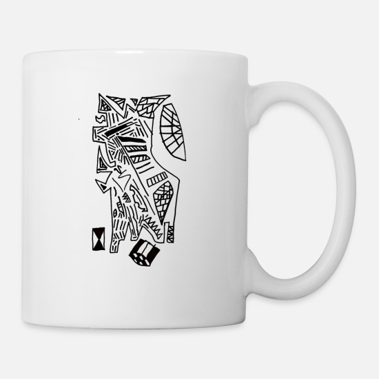 Dragon Head Mugs & Drinkware - dragon - Mug white