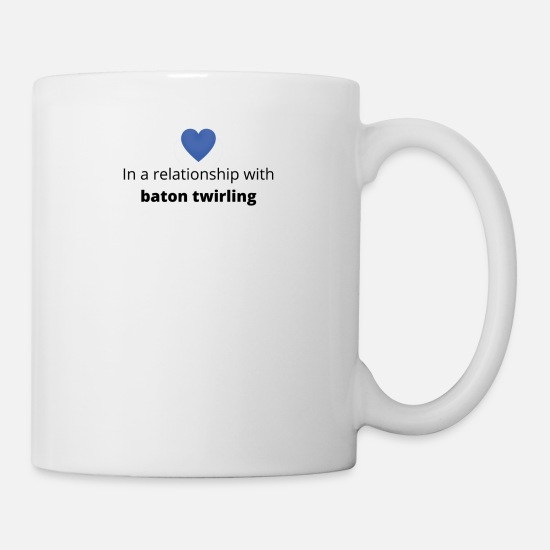 Birthday Mugs & Drinkware - gift single taken relationship with baton twirling - Mug white