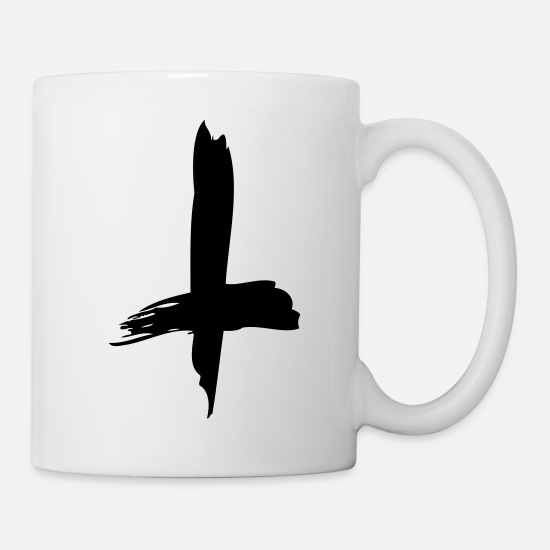 Symbol  Mugs & Drinkware - inverted cross - Mug white