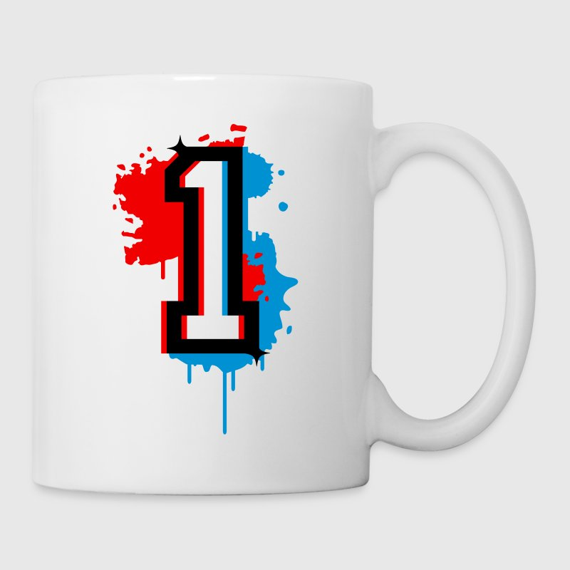 The number one as a graffiti - Mug