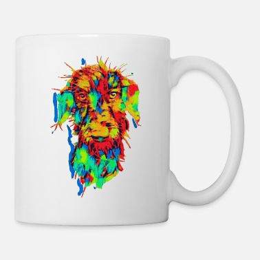 Colorful Rauhaardackel colorful of Dachshund - Mug