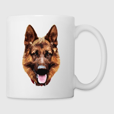 germanshepherd_face_001 - Mug blanc