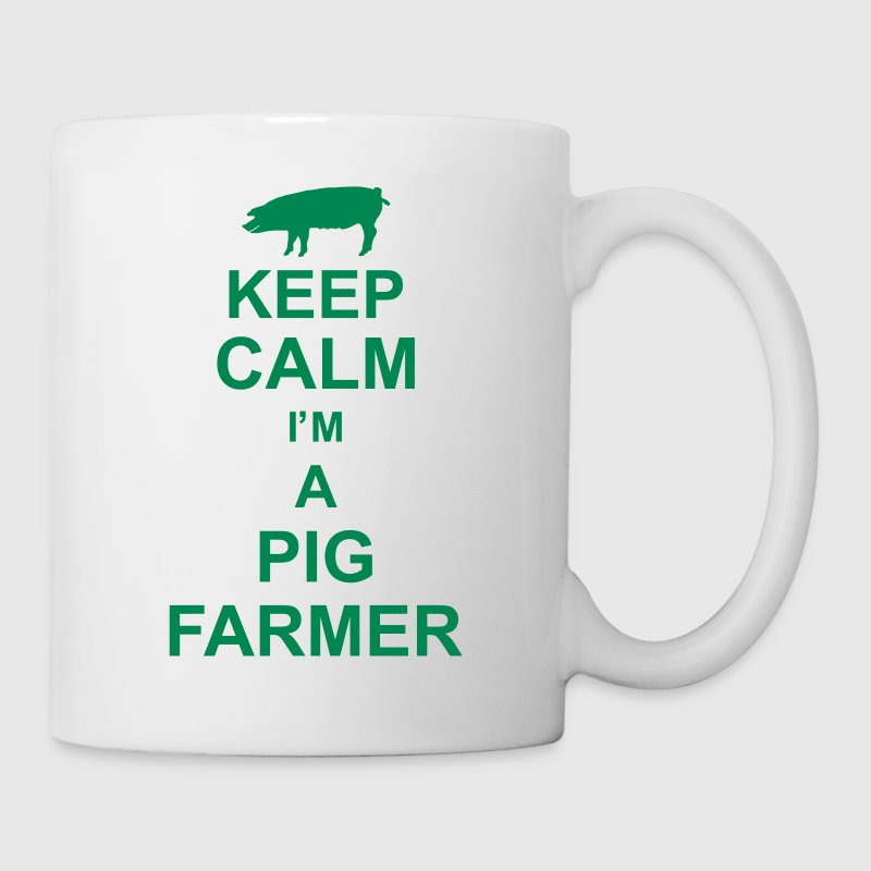 keep_calm_im_a_pig_farmer_g1 - Taza