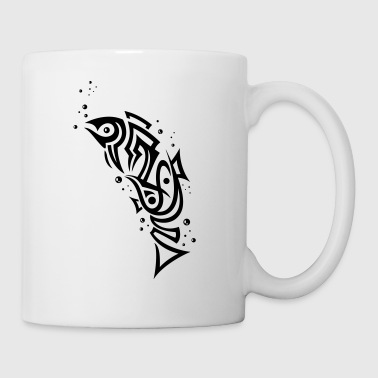 Tribal Fisch, angeln, Aquaristik, fishing - Tasse