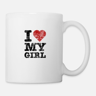 I Love my Girl vintage dark - Mug