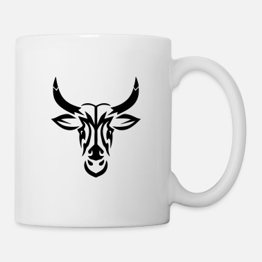 Tatoo taureau tribal tatouage tatoo - Mug blanc