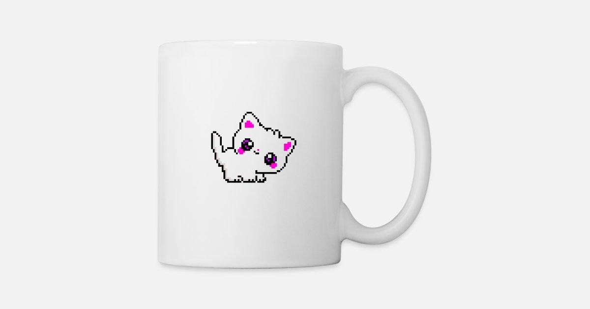 Petit Chaton Doux Chat Pixel Pixel Art Mug Spreadshirt