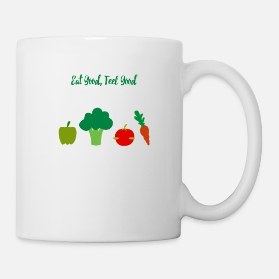 Bless You Mugs & Drinkware - Eat well, feel good - Mug white