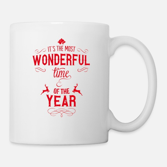 Christmas Mugs & Drinkware - most_wonderful_time_of_the_year_r - Mug white