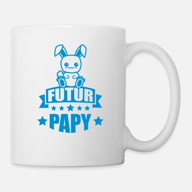 Grossesse annonce grossesse futur papy - Mug blanc