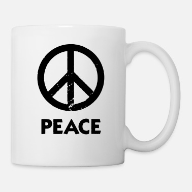 Atheist Peace sign cosmopolitan tolerance peace graffiti - Mug