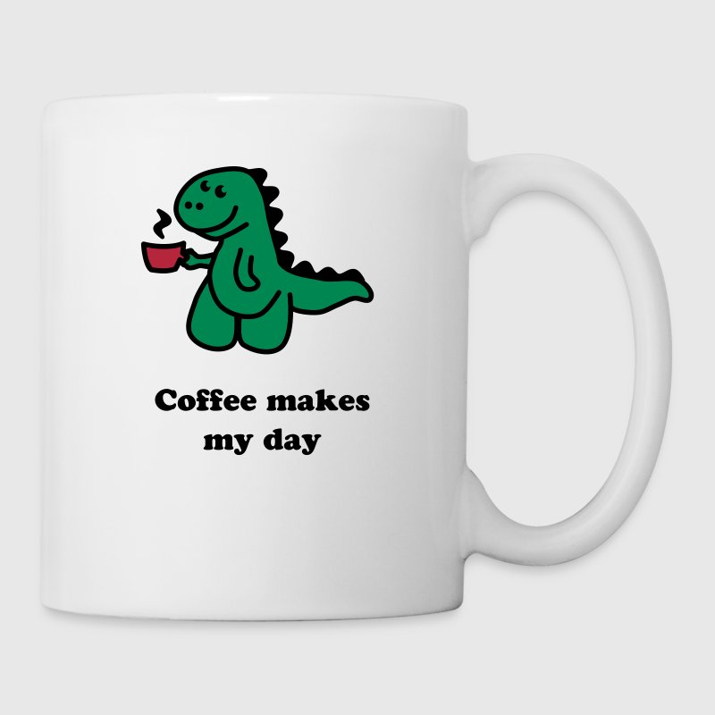 Coffee Makes My Day t rex  - Mok