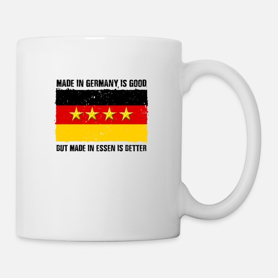 Gift Idea Mugs & Drinkware - Essen hometown Ruhrpott Ruhrgebiet home - Mug white