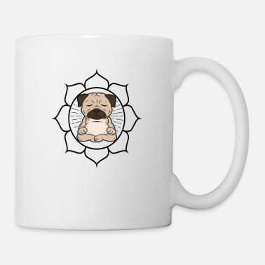 Buddhism cute cool meditation yoga pug pug dog - Mug