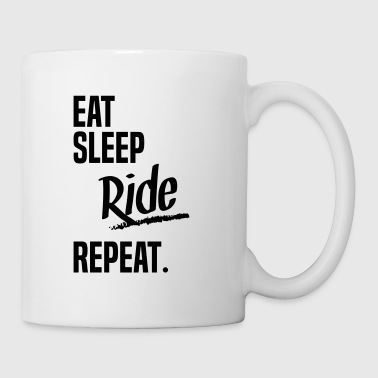 EAT SLEEP RIDE - Mug blanc