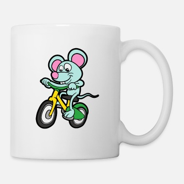 Tegneserie Funny Cute Cool Mouse Bike - Kop/krus