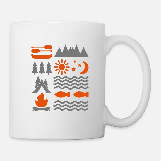 Outdoor Mugs & Drinkware - camping - Mug white