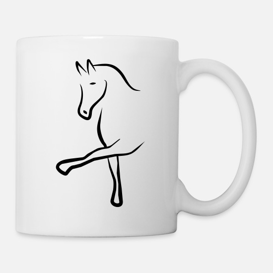 Horse Mugs & Drinkware - dressage - Mug white