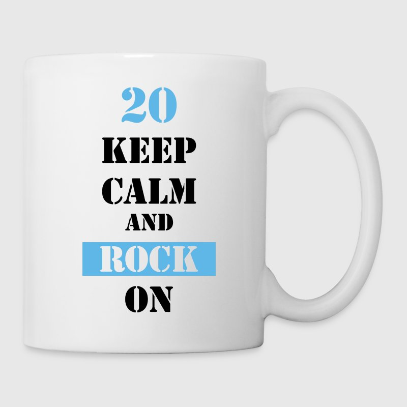 20 Keep calm and rock on - Tasse
