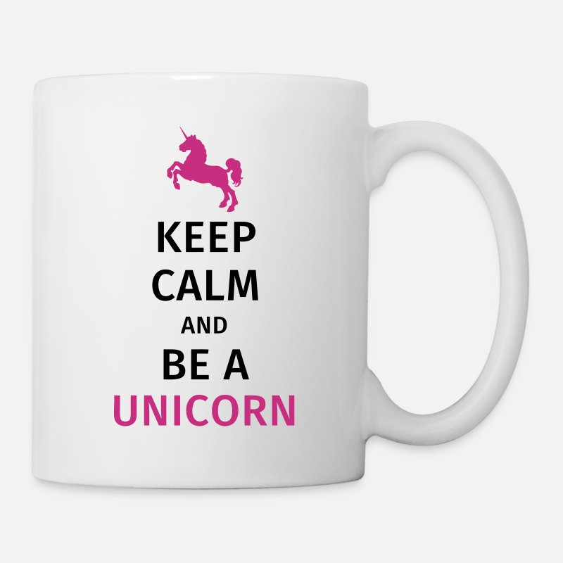Unicorno Tazze & Accessori - keep calm and be a unicorn - Tazza bianco