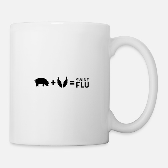 Provocation Mugs & Drinkware - The swine flu - Mug white