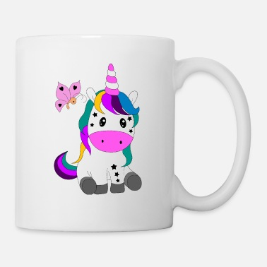 Pony Unicorn pony butterfly cute - Mug