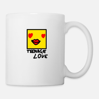 Teenager Self Picture Girl: Teenage Love - Mug blanc