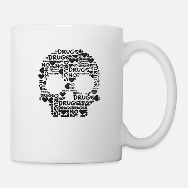 Aversion NO DRUGS - skull - Mug