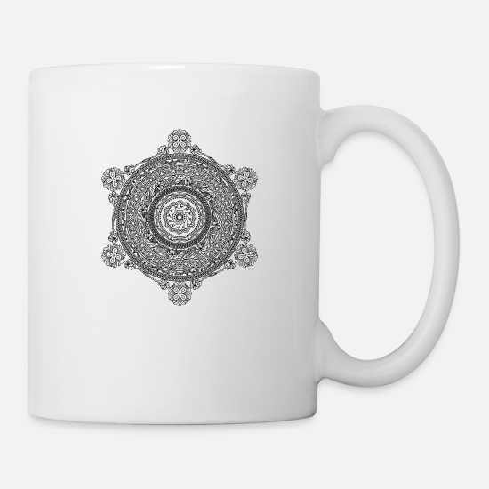 Art Mugs & Drinkware - mandala - Mug white
