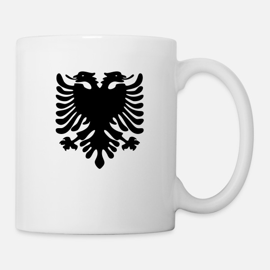 2100px Shield Shqiperise Zog Britain Mixed Mugs & Drinkware - albania design dragon - Mug white