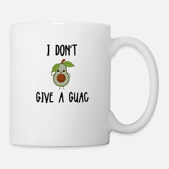South America Mugs & Drinkware - Avocado guacamole provocative - Mug white