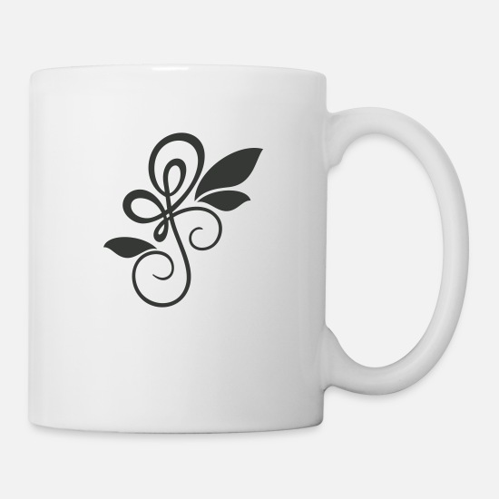 Floral Mugs & Drinkware - Florales Ornament / floral ornament (1c) - Mug white