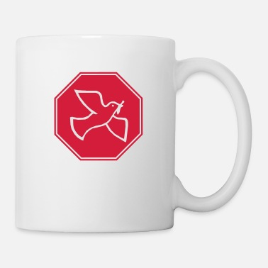 Pond Dove of peace sign - Mug