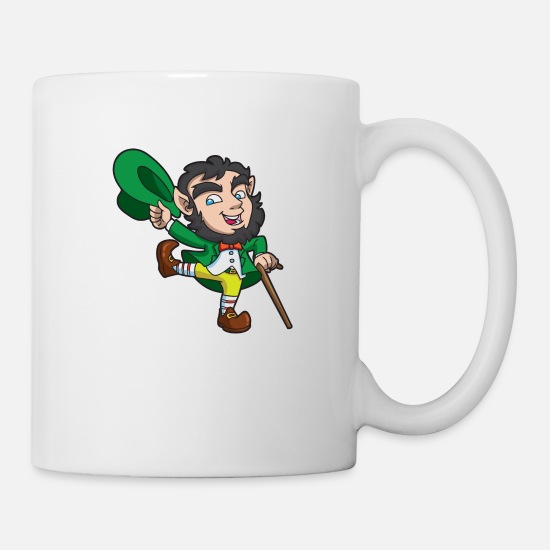 Lucky Mugs & Drinkware - Leprechaun St Patricks - Mug white