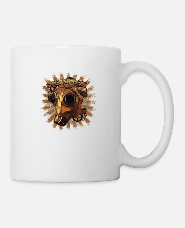 Design Mugs & Drinkware - Steampunk mask - Mug white