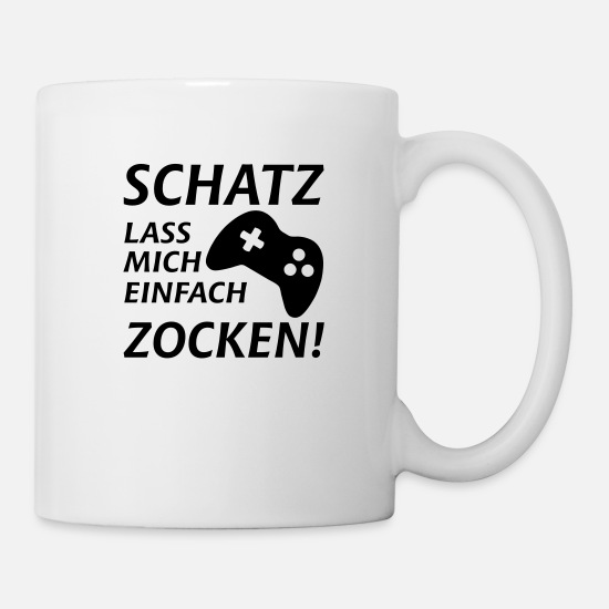 Game Over Tassen & Becher - zocken gamer zocker - Tasse Weiß