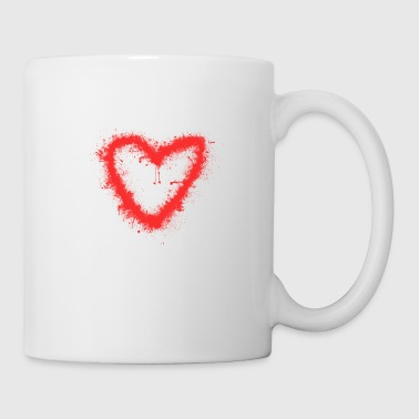 Spray-Herz - Tasse
